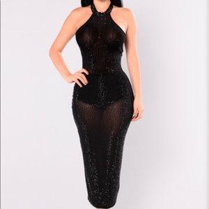 Dresses & Skirts - Fashion Nova Glo Up Rhinestone Sequin Dress